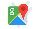 google logo with map pin