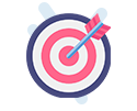 bullseye with arrow in it